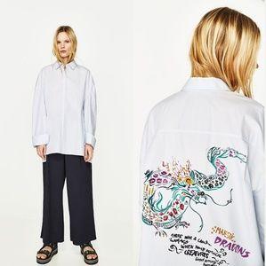 Zara Printed Oversized Shirt